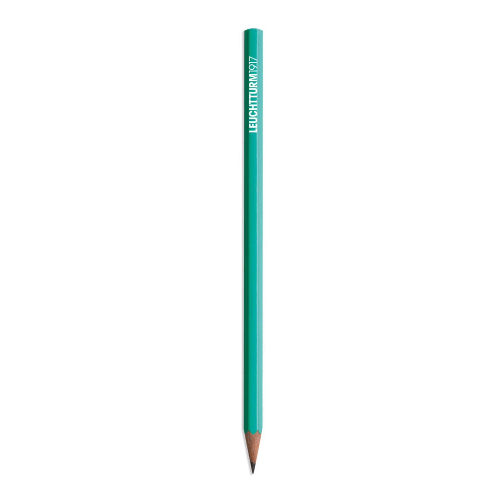 Leuchtturm 1917 Black HB Lead Woodcase Pencil – Emerald