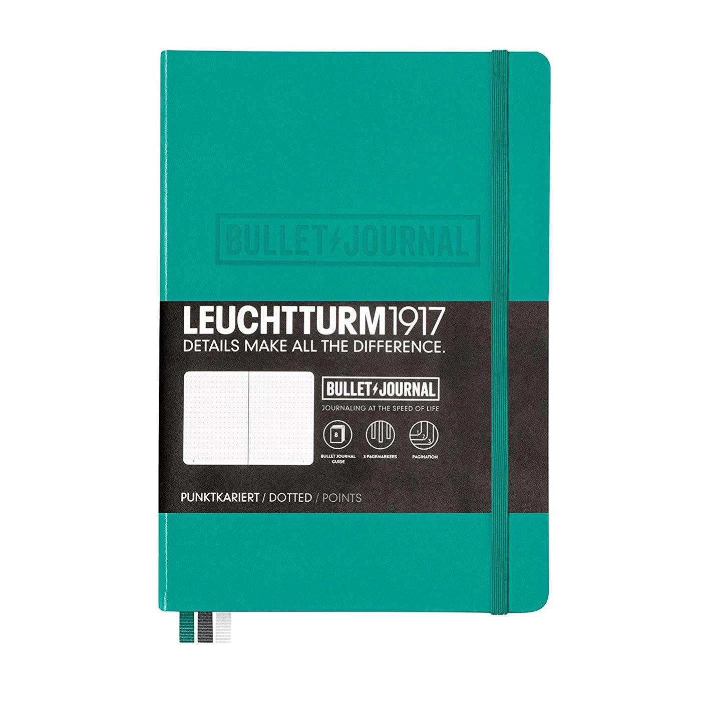 Leuchtturm 1917 Dotted A5 Medium Bullet Journal Emerald