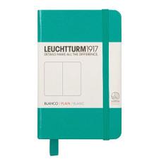 Leuchtturm 1917 Hardcover A7 Mini Notebook – Emerald – Plain