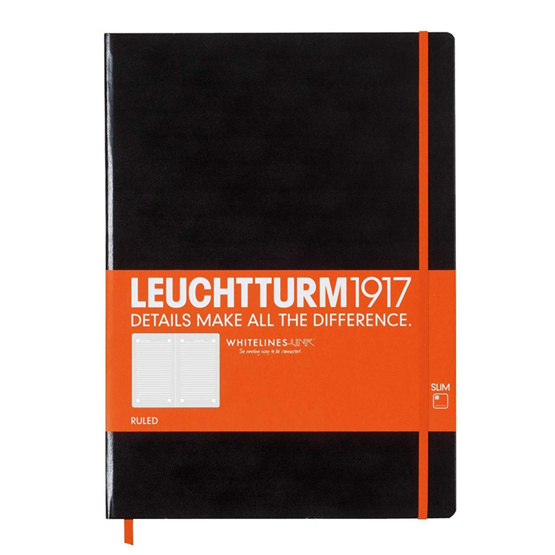 Leuchtturm 1917 Whitelines Link Master Slim Journal Ruled