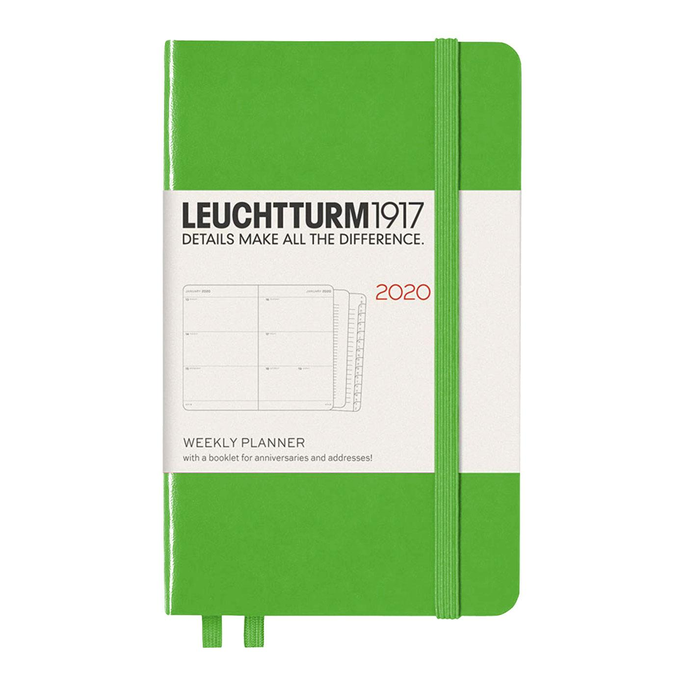 Leuchtturm 2019 A6 Pocket Weekly Hardcover Planner – Fresh Green