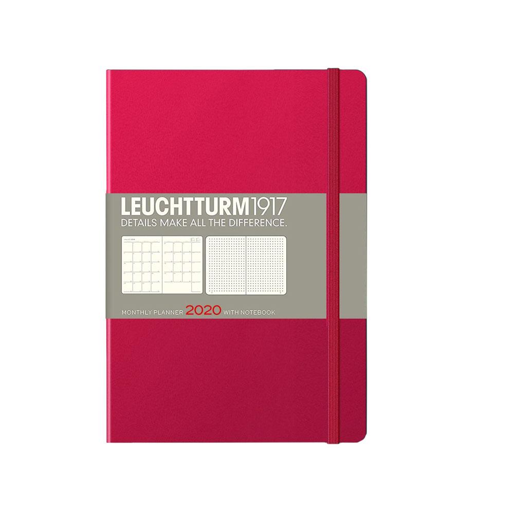 Leuchtturm 2020 B6+ Softcover Monthly Planner Notebook – Berry