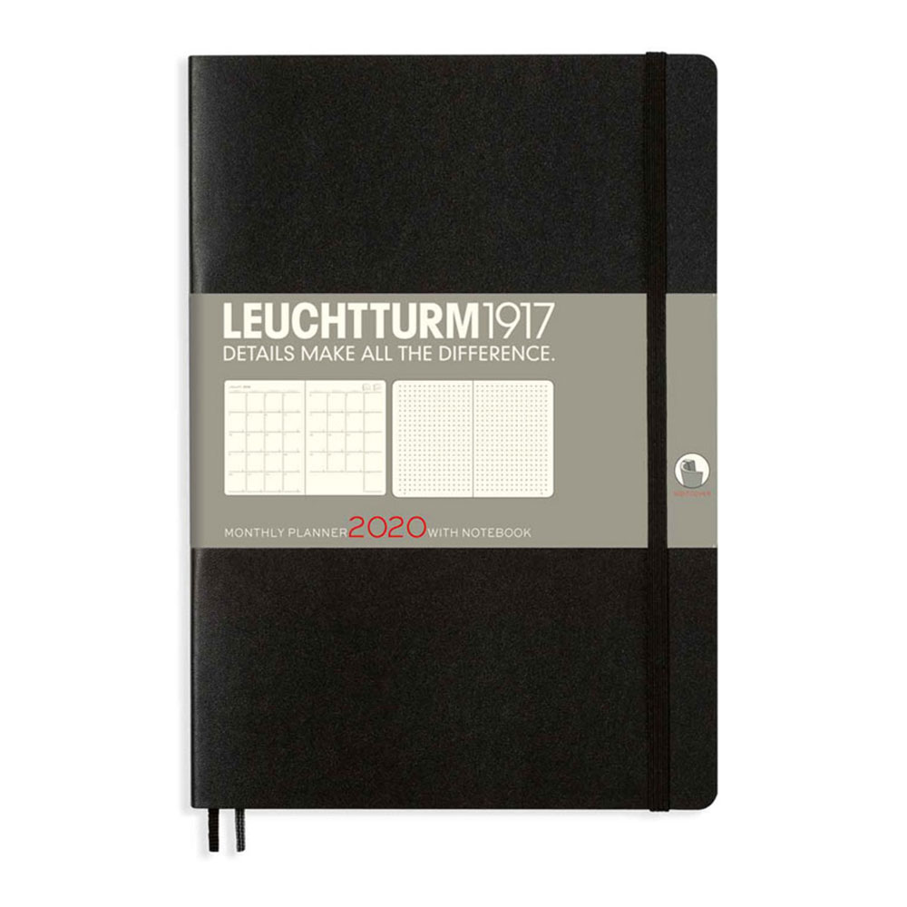Leuchtturm 2020 B6+ Softcover Monthly Planner Notebook – Black