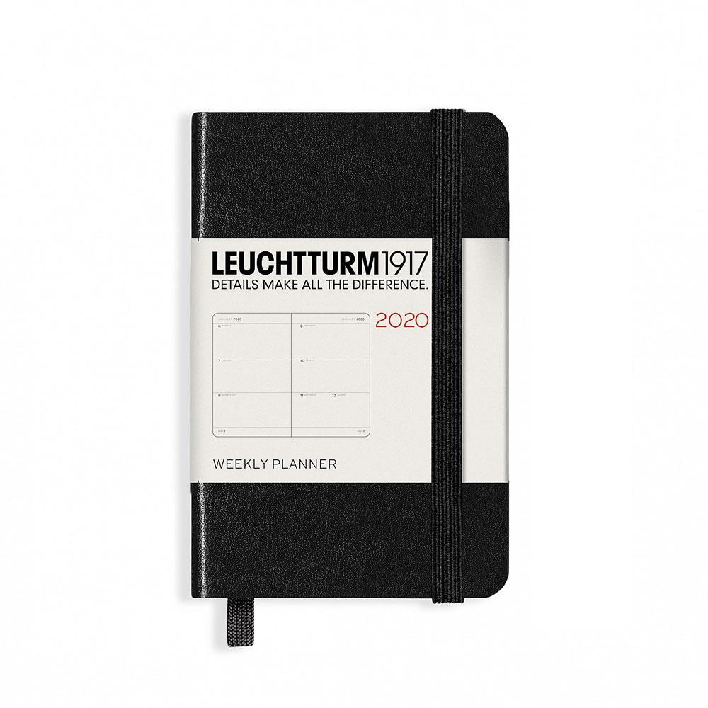 Leuchtturm Black 2020 A7 Hardcover Mini Weekly Planner