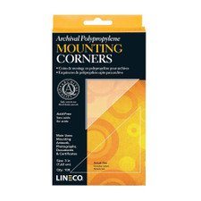 Lineco Black Self Adhesive Photo Corners 252 Count