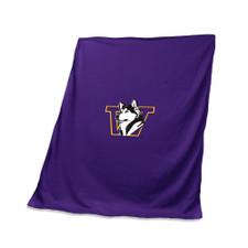 Logo Purple Retro Dog Washington Stadium Blanket