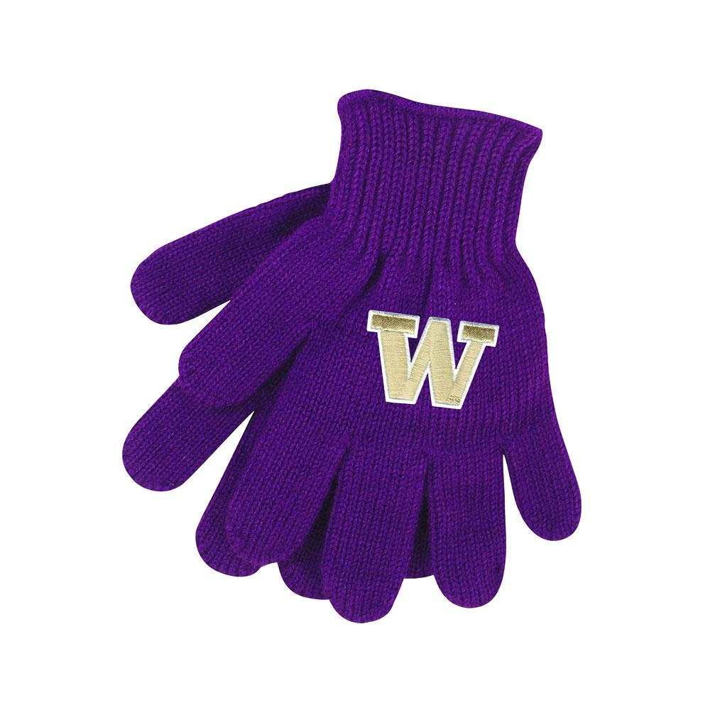 Logofit Kids' Purple W Tailgate Knit Gloves