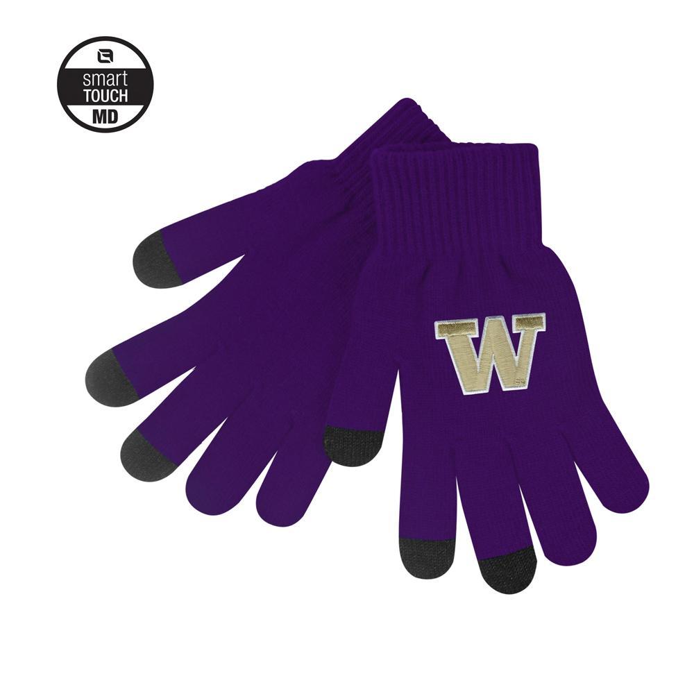 Logofit Unisex W iText Smart Touch Knit Gloves – Purple