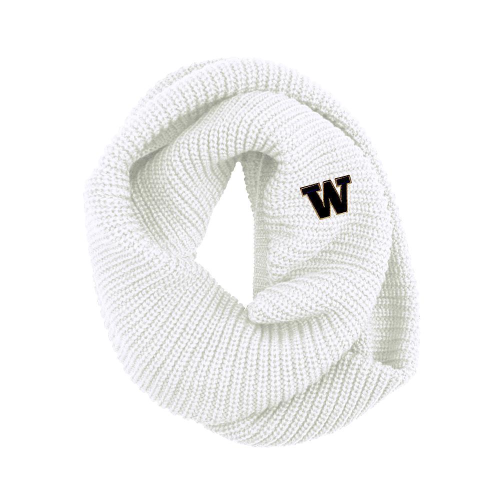 Logofit Women's W Piper Knit Infinity Scarf – White