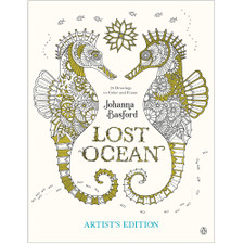 Lost Ocean: Artist's Edition – 24 Drawings to Color and Frame by Johanna Basford