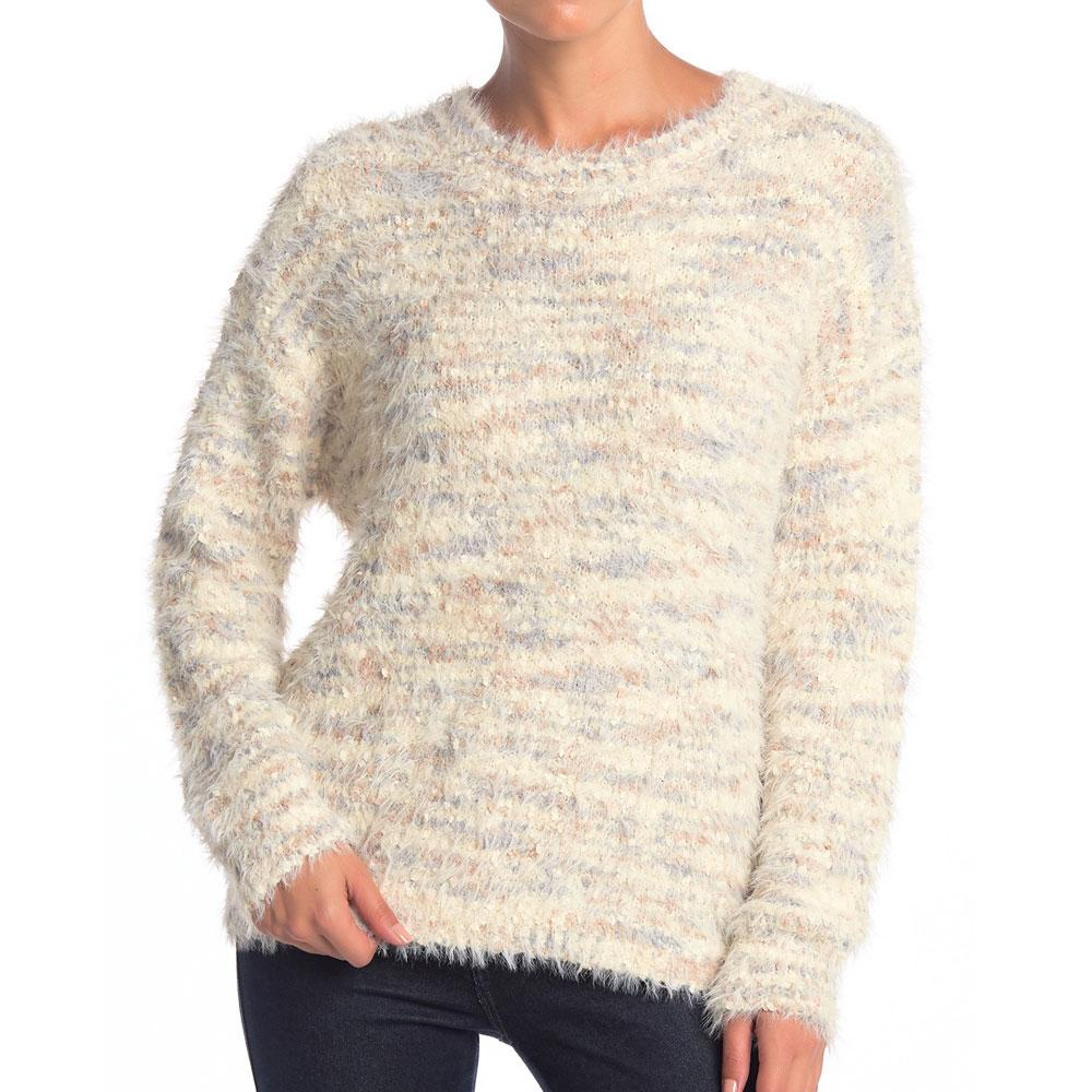 Lush Cream Taupe Fuzzy Knit Sweater