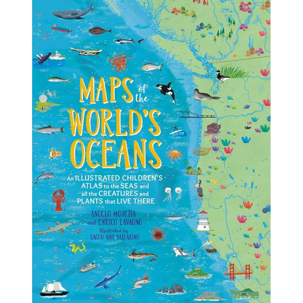 Maps of the World's Oceans by Enrico Lavagno