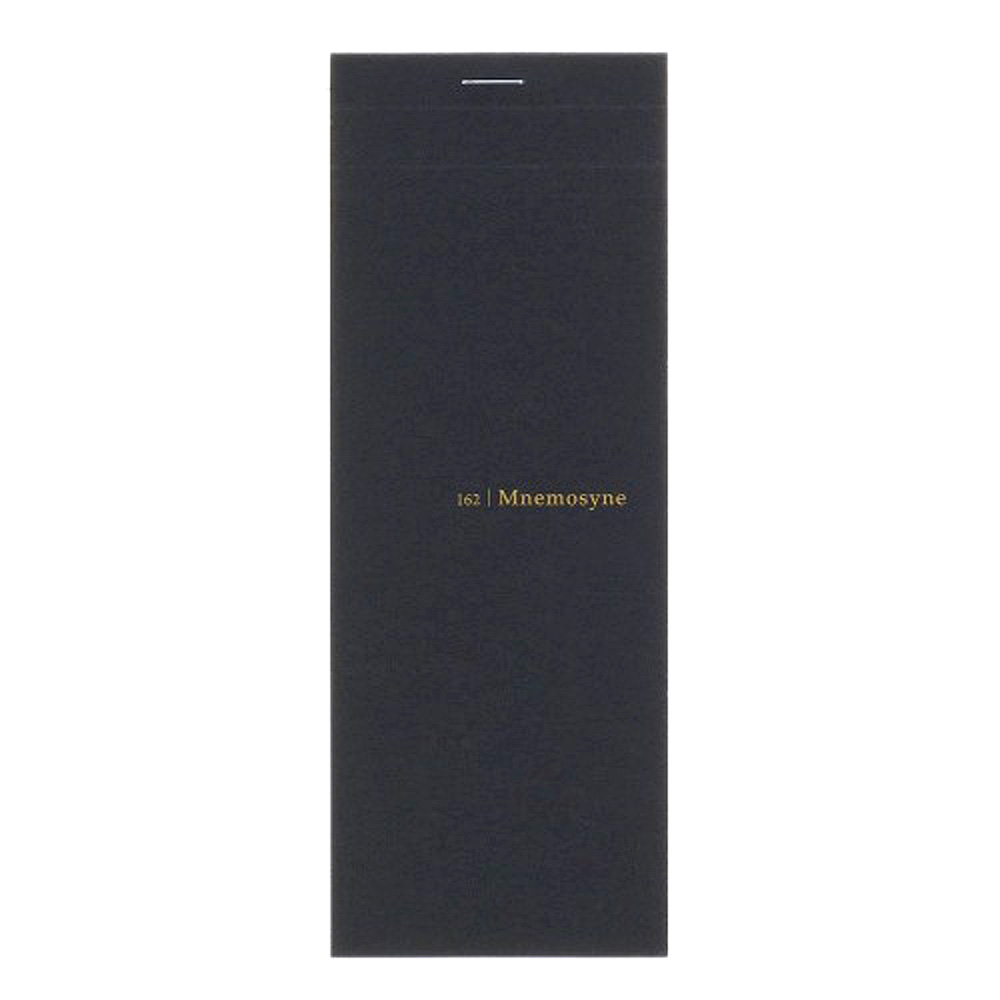 "Maruman Black Mnemosyne 7.9""x3"" 5mm Grid Stitched Memo Pad"