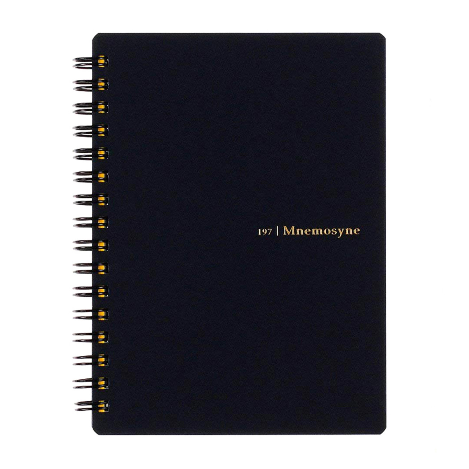 Maruman Black Mnemosyne A6 Lined Spiral Daily Notebook