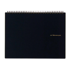 Maruman Black Mnemosyne 5mm Grid Top Spiral Notebook A5