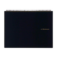 Maruman Black Mnemosyne Blank Top Spiral Notebook A4