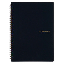 Maruman Black Mnemosyne Ruled Spiral Notebook 6x9