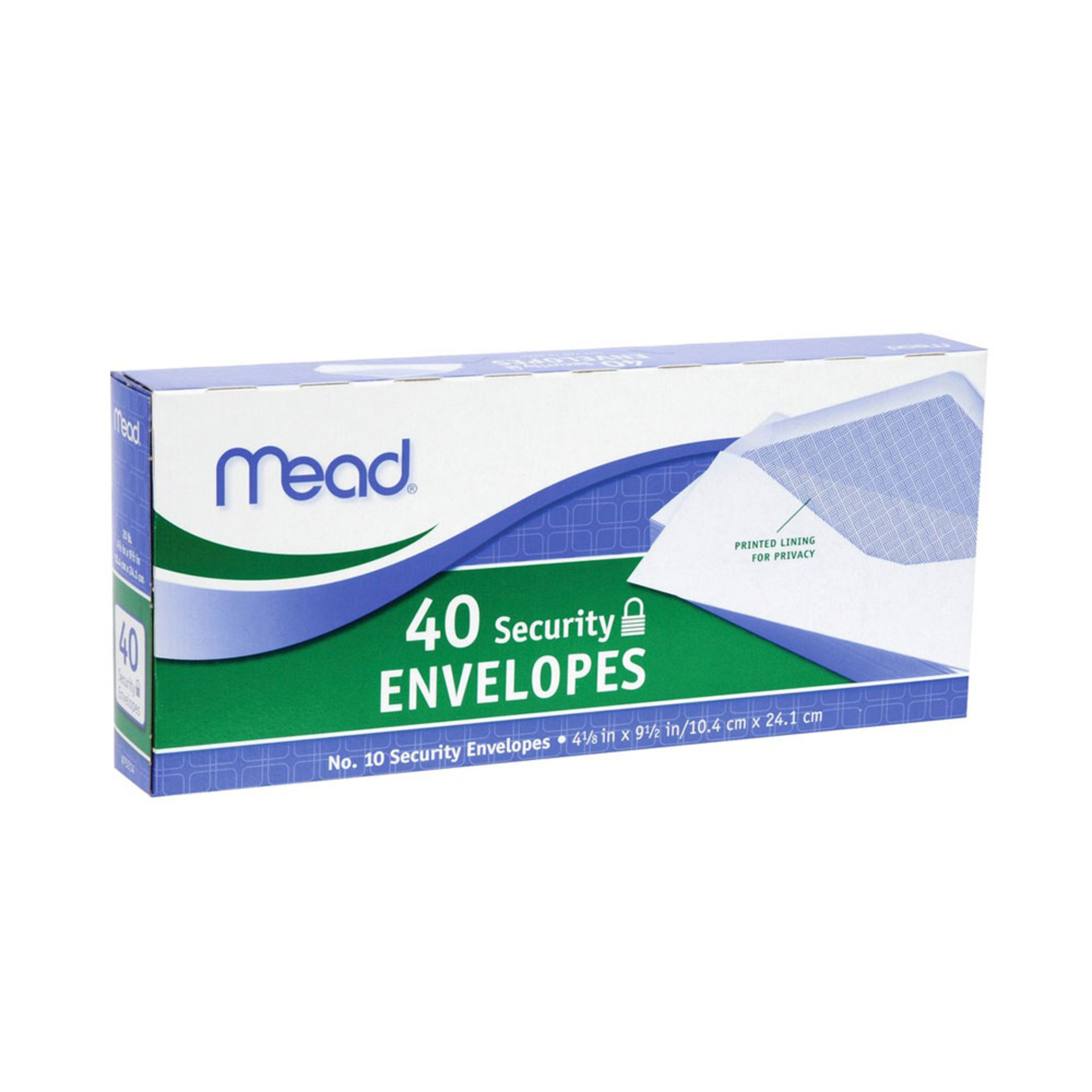 Mead #10 Security Envelopes 40 Count