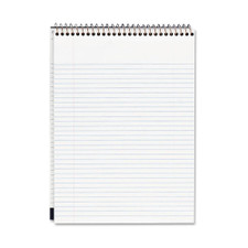 Mead Cambridge White Wide Ruled Top Spiral Writing Pad 70ct