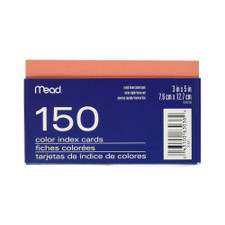 Mead Ruled Index Cards With Tray 150-count 3x5