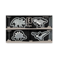 Midori Dinosaur Etching E-Clips 16 Count