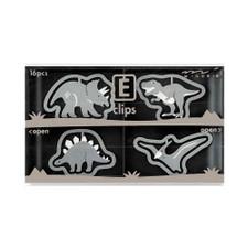 Midori Dinosaur Etching E-Clips 16 Count