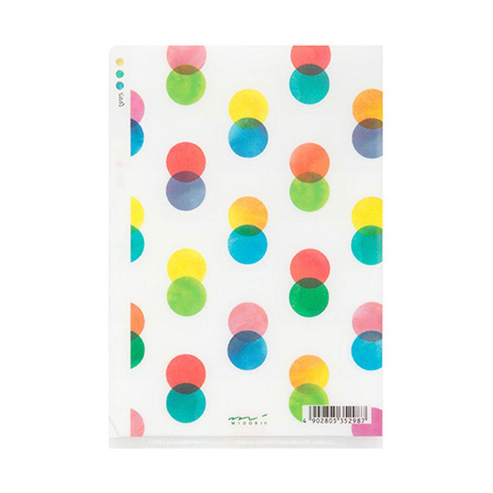 Midori Dots A6 Three Pocket Copy Holder