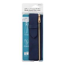 Midori Fabric Book Band Pen Case Navy