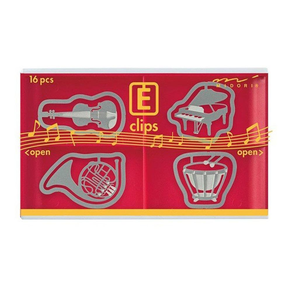 Midori Music Etching E-Clips 16 Count