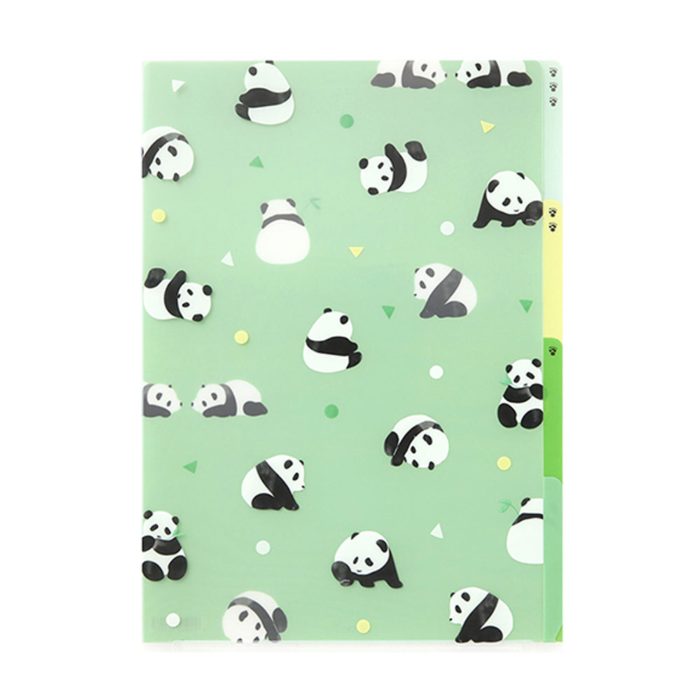 Midori Panda A4 Three Pocket Copy Holder