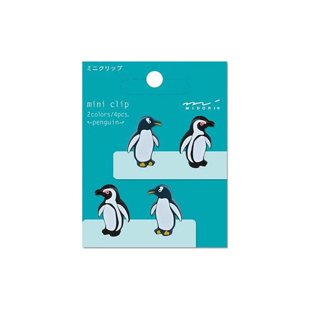Midori Penguin Mini Clips 4 Count