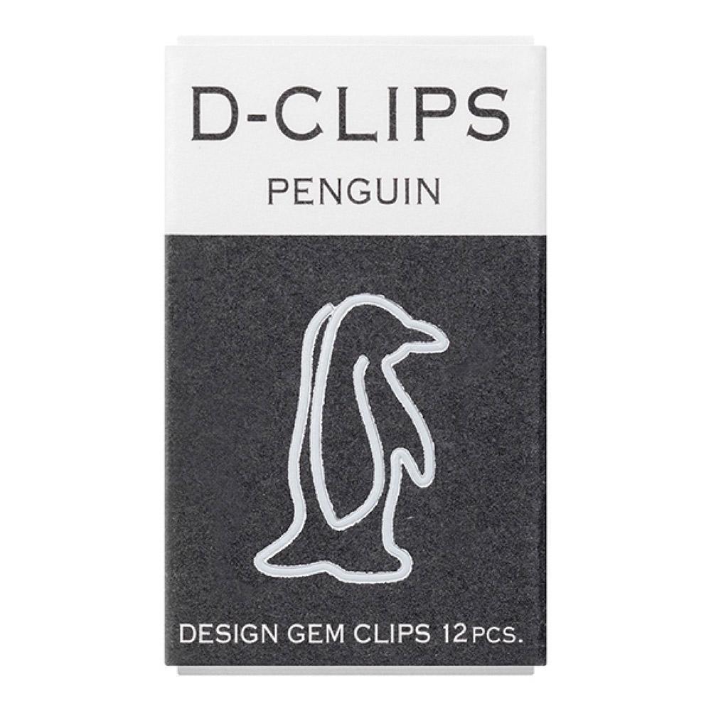 Midori Penguin D-Clip Paper Clips 12 Pack