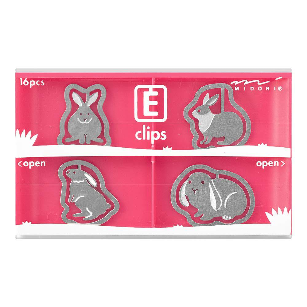 Midori Rabbit Etching E-Clips 16 Count