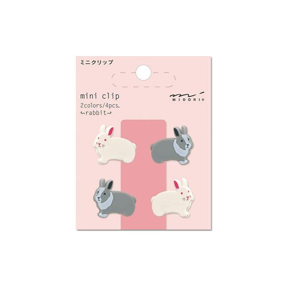 Midori Rabbit Mini Clips 4 Count