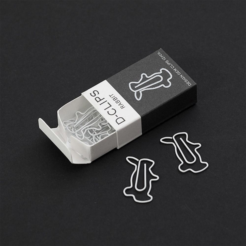 Midori Rabbit D-Clip Paper Clip Box