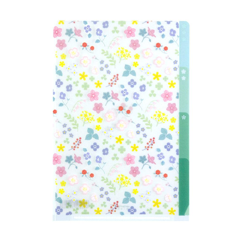Midori Wild Flower A6 Three Pocket Copy Holder
