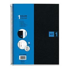 Miquelrius M Polypropylene NB1 Lined Spiral Notebook Blue