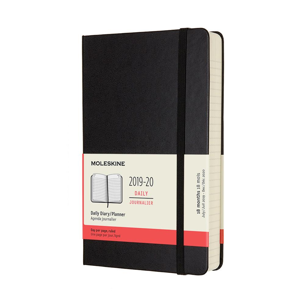 Moleskine 2019-20 Daily Planner Large Black Hard Cover