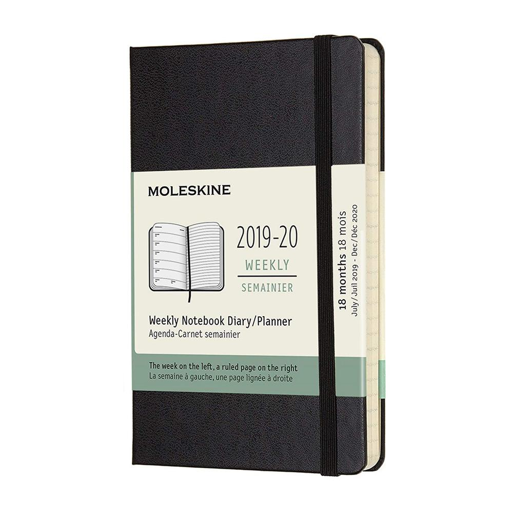 Moleskine 2019-20 Weekly Planner Pocket Black Hard Cover