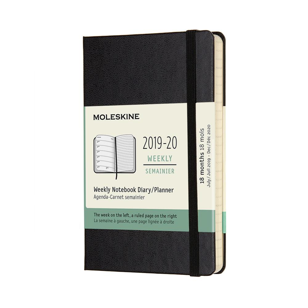 Moleskine 2019-20 Weekly Planner Pocket Black Soft Cover