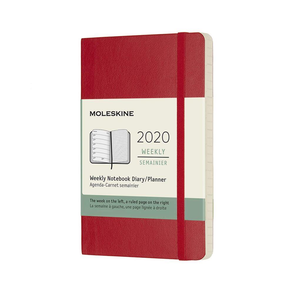 Moleskine 2020 Weekly Planner Pocket Scarlet Red Soft Cover