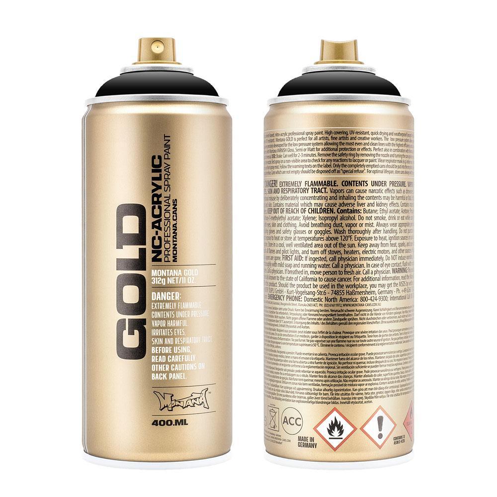 Montana Gold Spray Paint Black