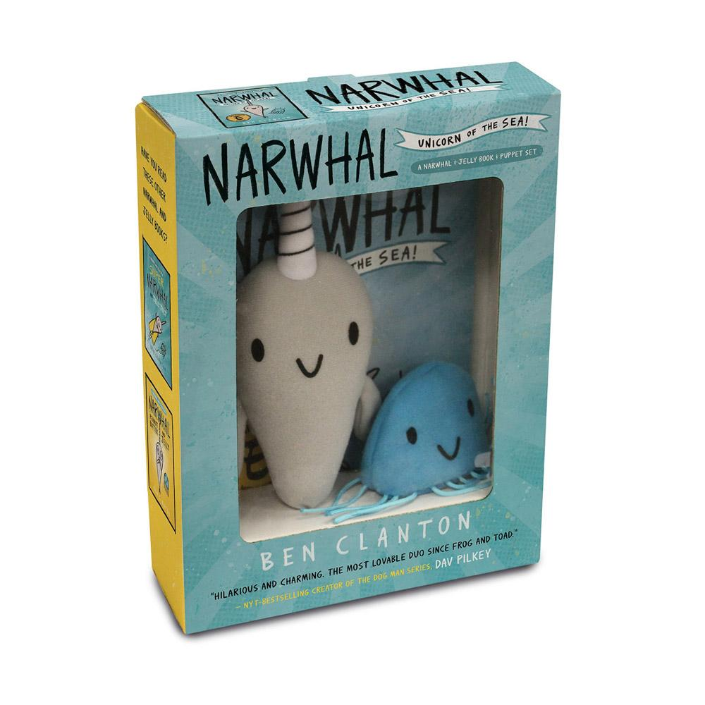 Narwhal and Jelly Book 1 and Plush Set