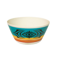 Native Northwest Salish Sunset Bamboo Bowl 10in