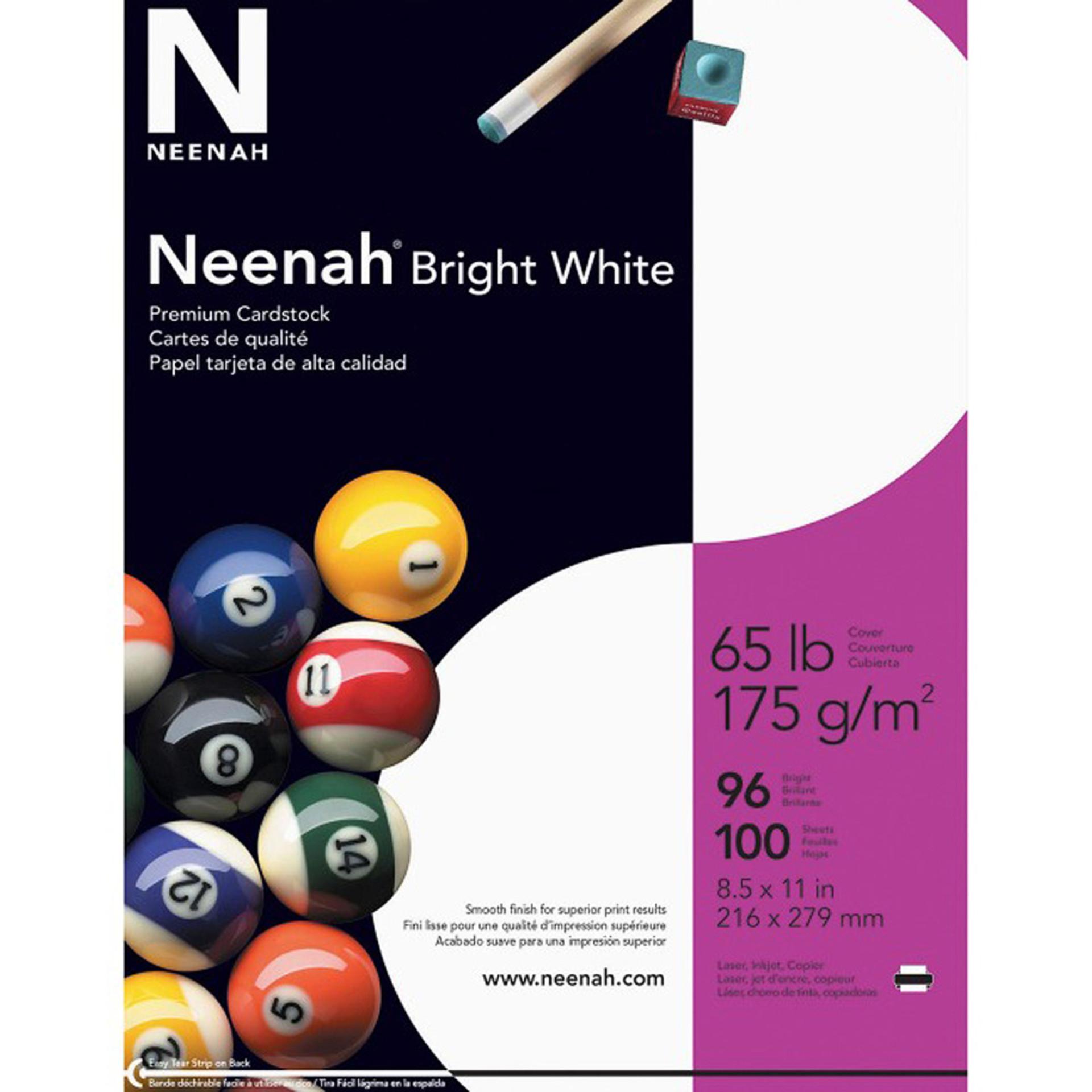 Neenah Bright White Card Stock 100 Sheets