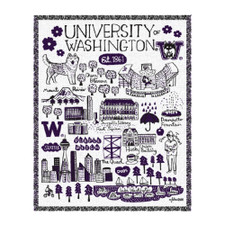 Neil Julia Gash U of W Tapestry Blanket
