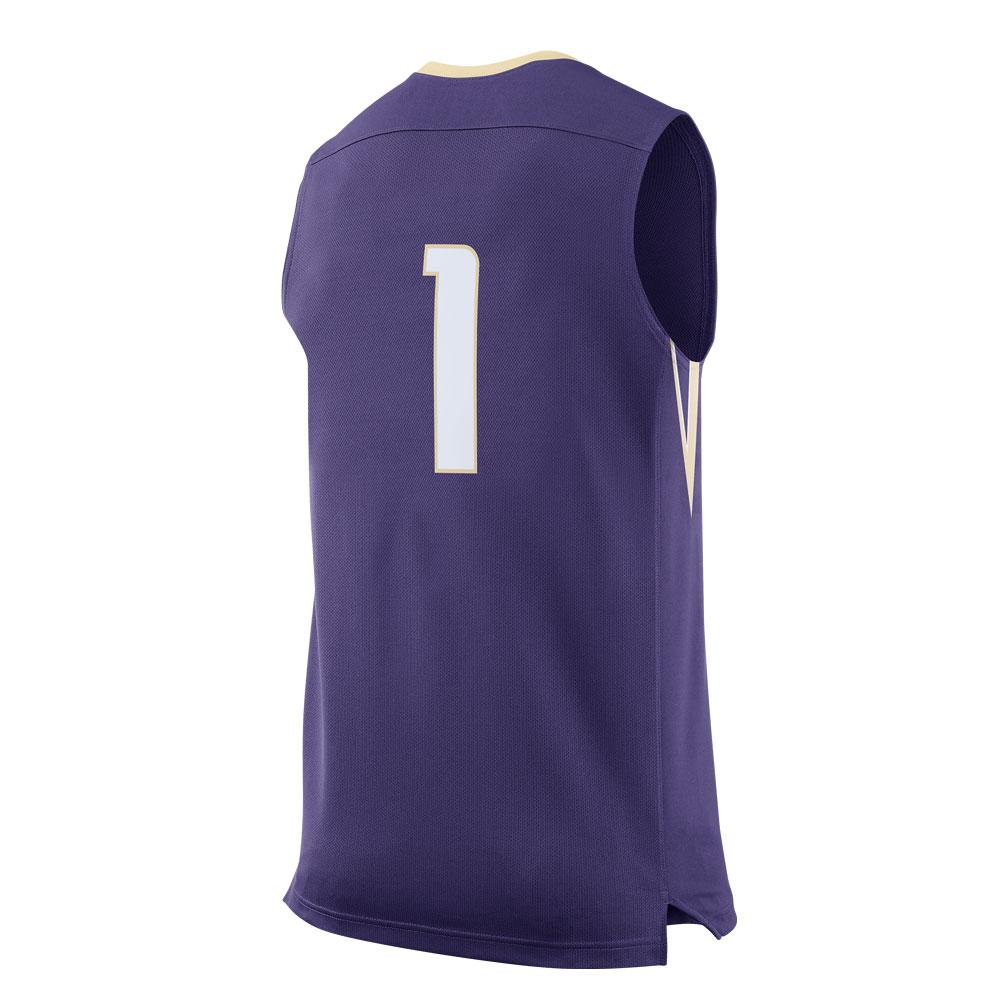 Nike Men's Washington Huskies Replica Basketball Jersey Back