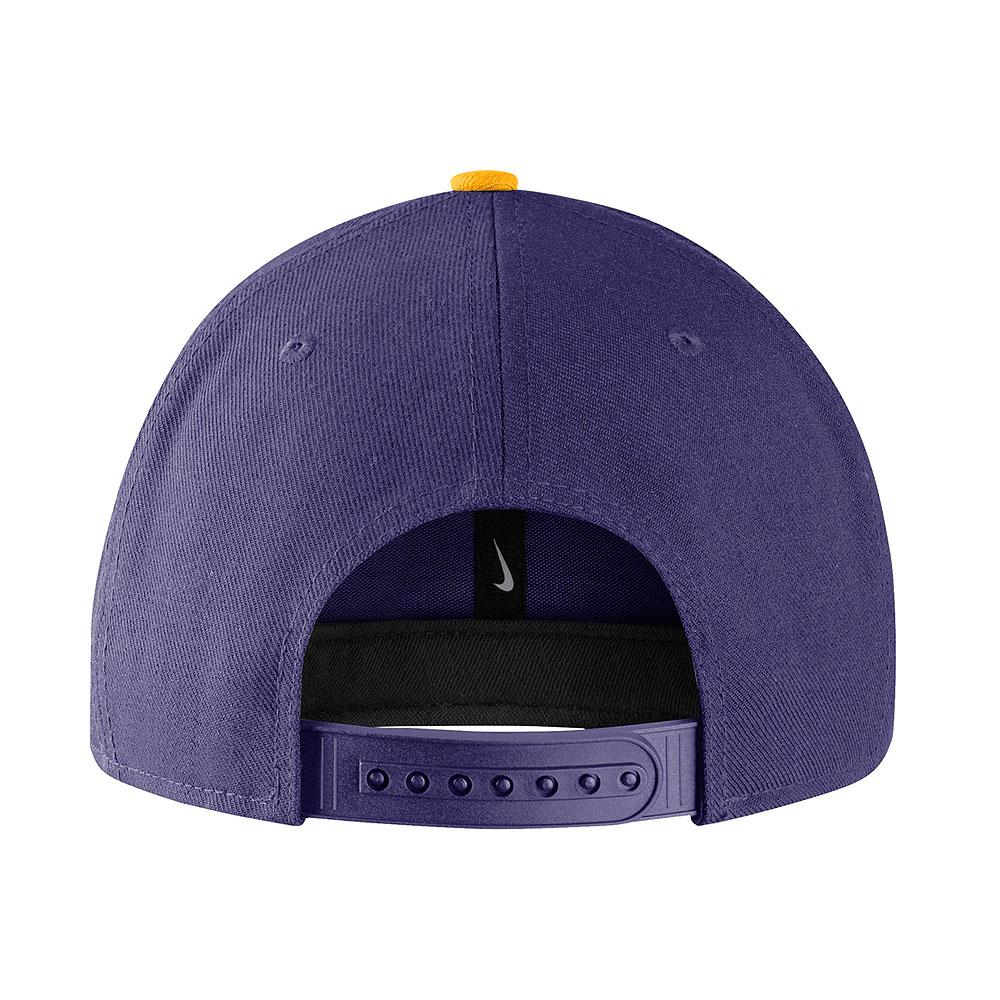 Nike Washington Huskies Snapback Hat Purple Back