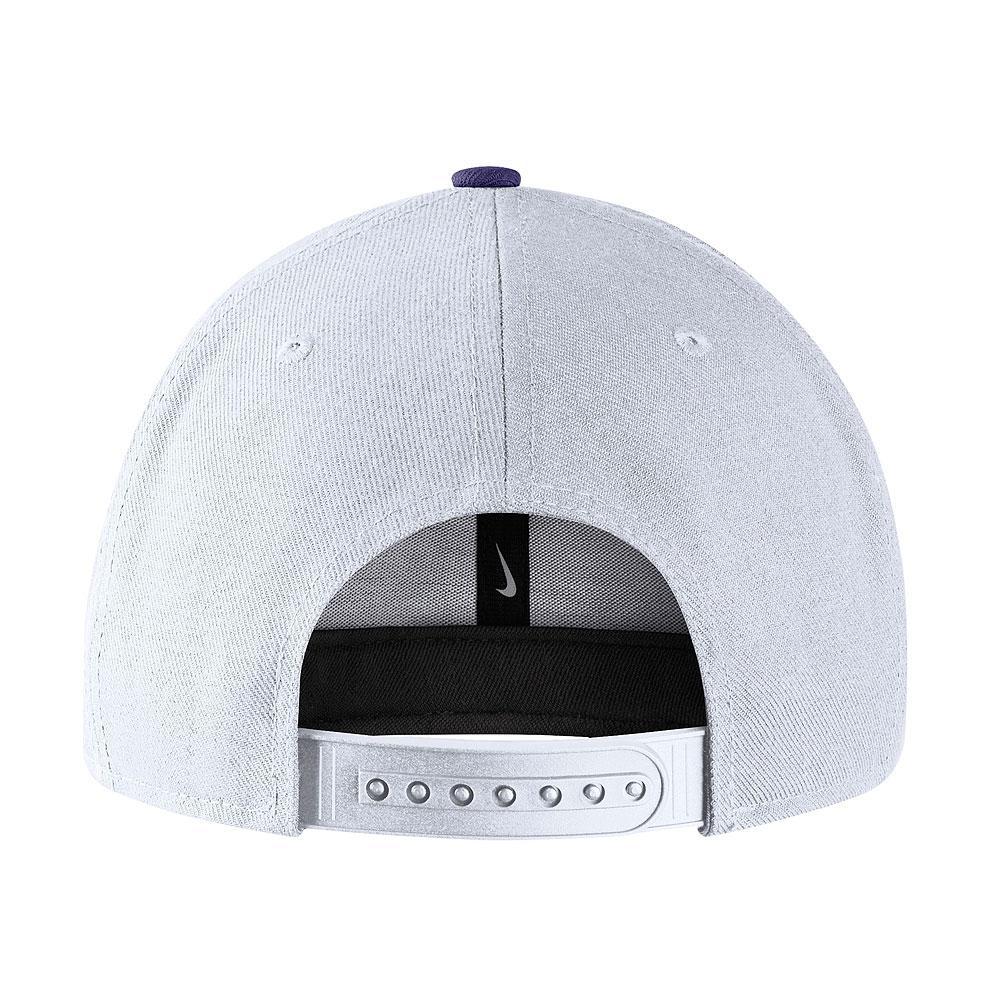 Nike Washington Huskies Snapback Hat White Back