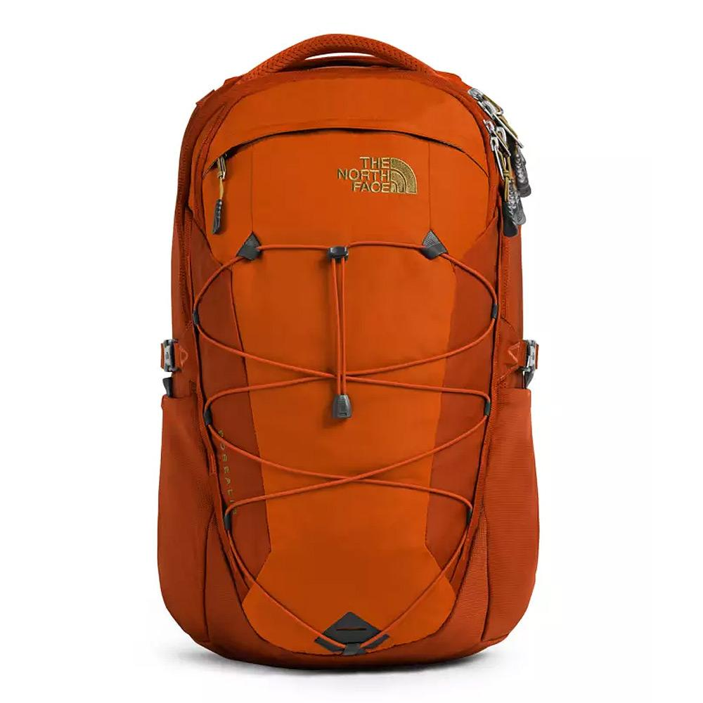 North Face Borealis Papaya Orange/Picante Red Backpack